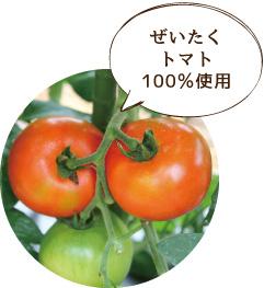 ぜいたくトマト100%使用